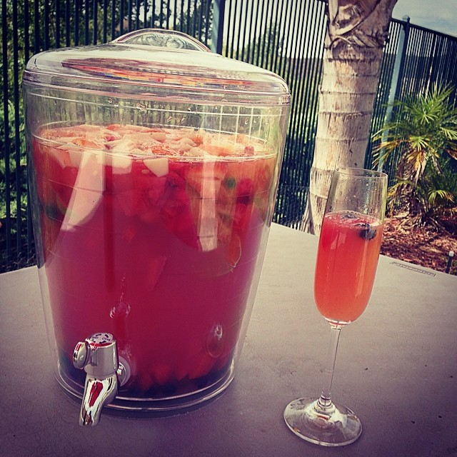 #Father'sDay BBQ Recipe: #WatermelonSangria & #WatermelonMimosa